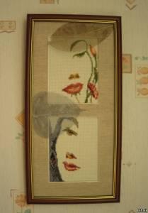 Как лучше оформить вышивку бисером со стеклом или без